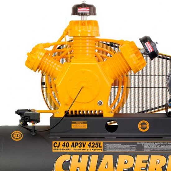 Compressor 40 pcm/AP3V 425 Litros Trifásico Motor Blindado Intermitente - Imagem zoom