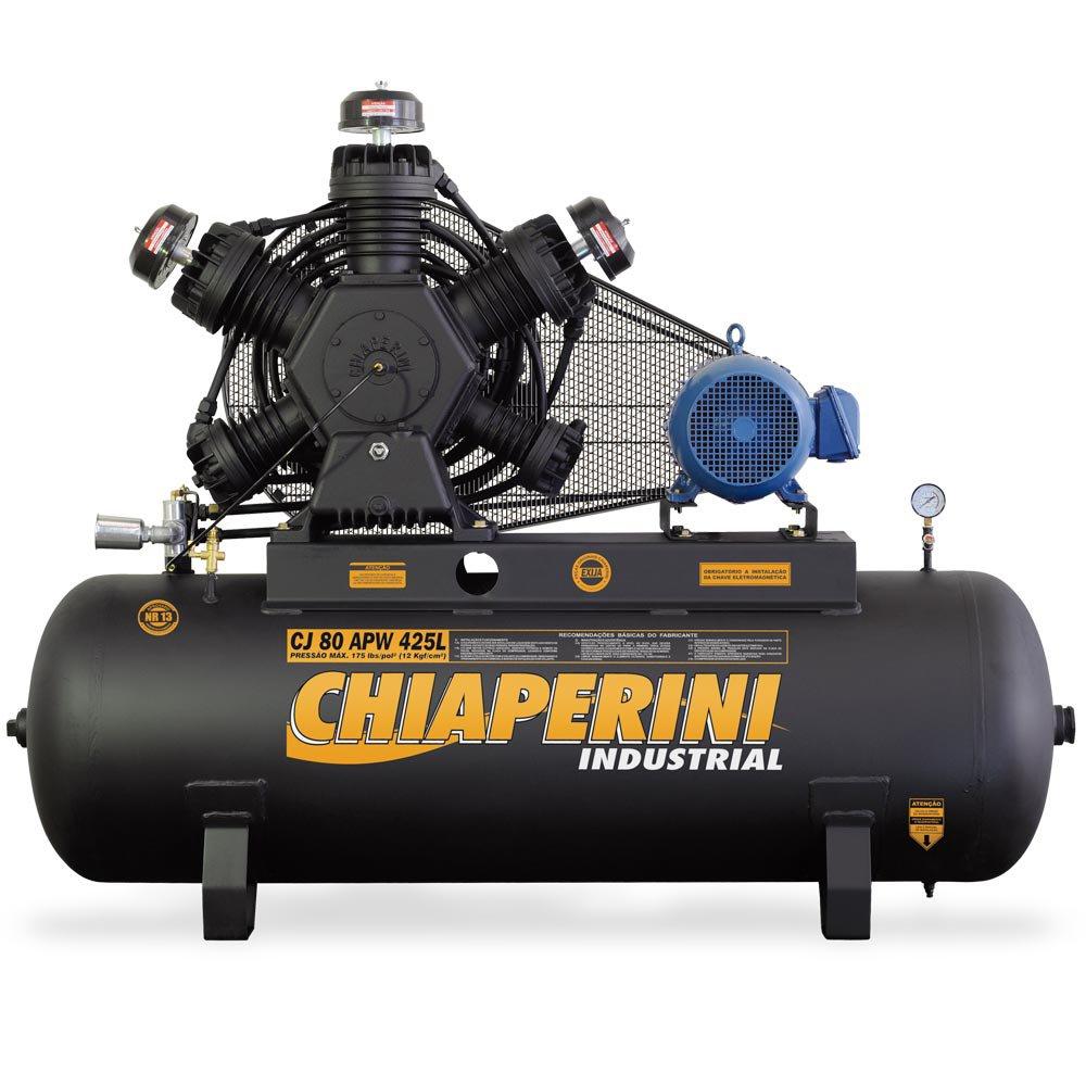 Compressor de Ar 80PCM 425 Litros Trifásico com Motor Blindado - Imagem zoom