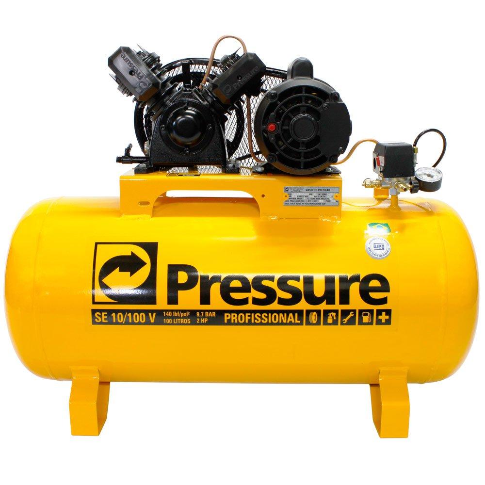Compressor de Ar 2CV 10 Pés 100 Litros 110/220V - Imagem zoom