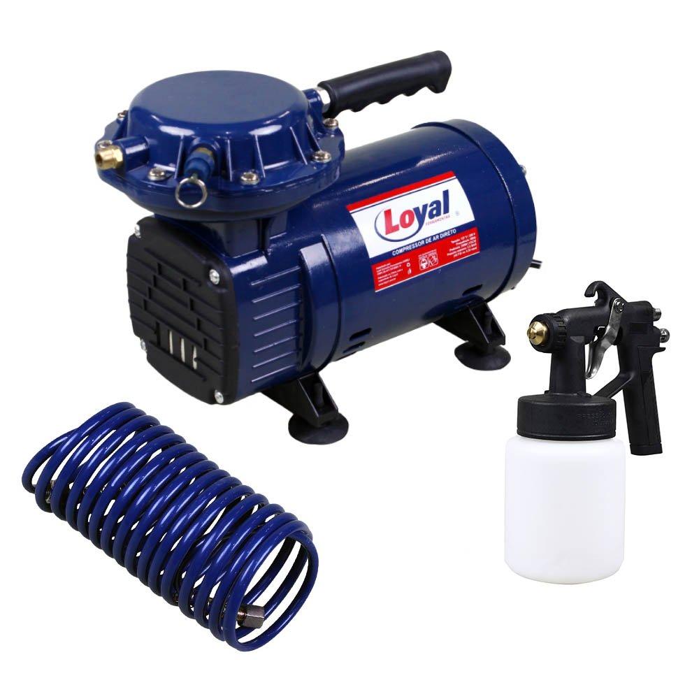 f5d34f6b8 Compressor de Ar Direto Bivolt com Kit para Pintura - LOYAL-LC-500 ...
