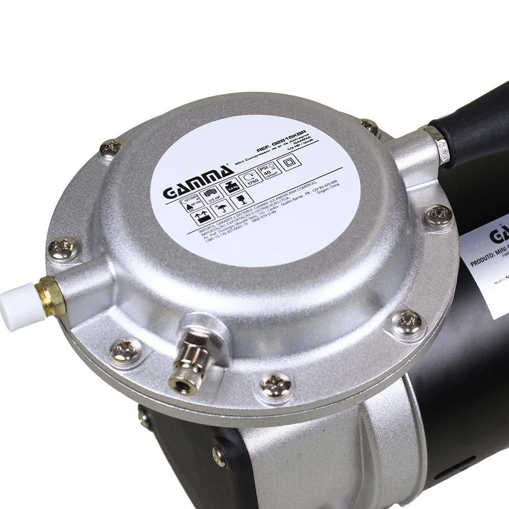 255661ae1 Mini Compressor 1 3 HP de Ar de Diafragma Bivolt com Kit - Imagem zoom
