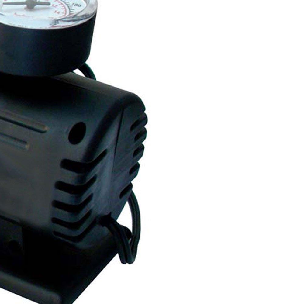 Mini Compressor de Ar 12V com Manômetro 250PSI - Imagem zoom
