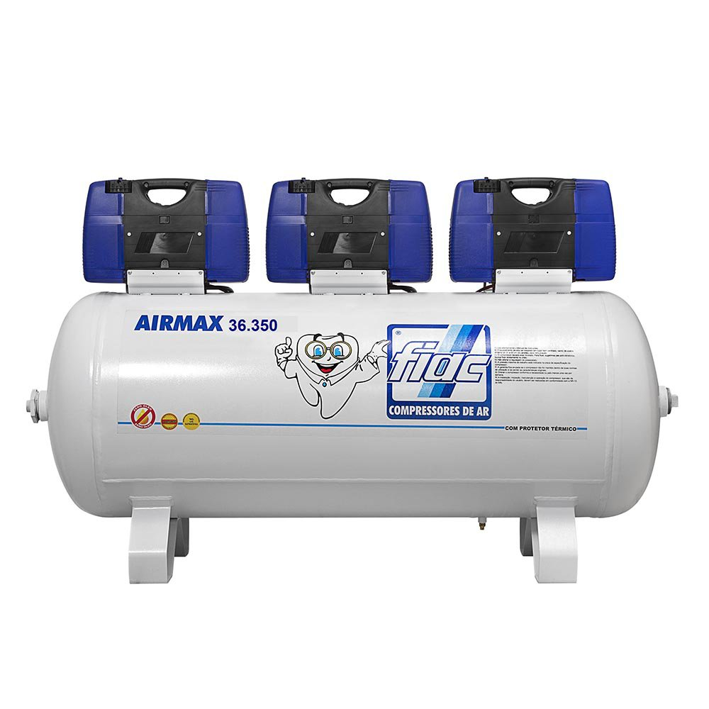 Compressor Odontológico Isento de Óleo 350 Litros 36PCM  - Airmax 36.350 - Imagem zoom