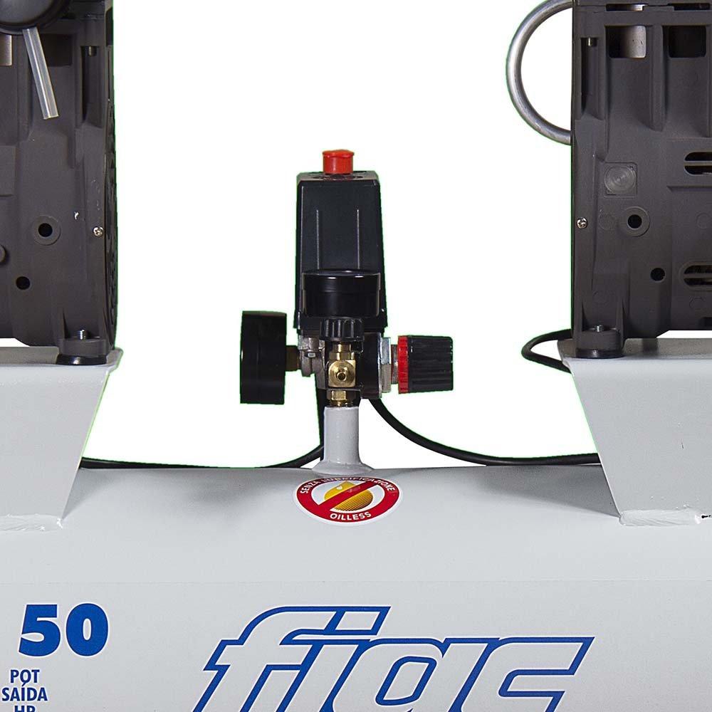 Compressor Odontológico Isento de Óleo 50 Litros 12PCM  - Imagem zoom