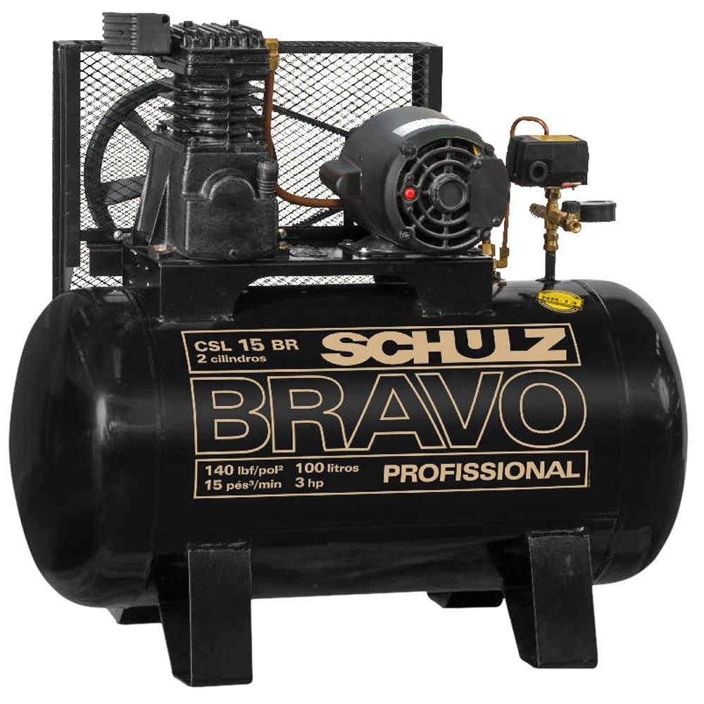 Compressor de Ar Bravo 15 Pés 100 Litros Mono 110/220V - Imagem zoom