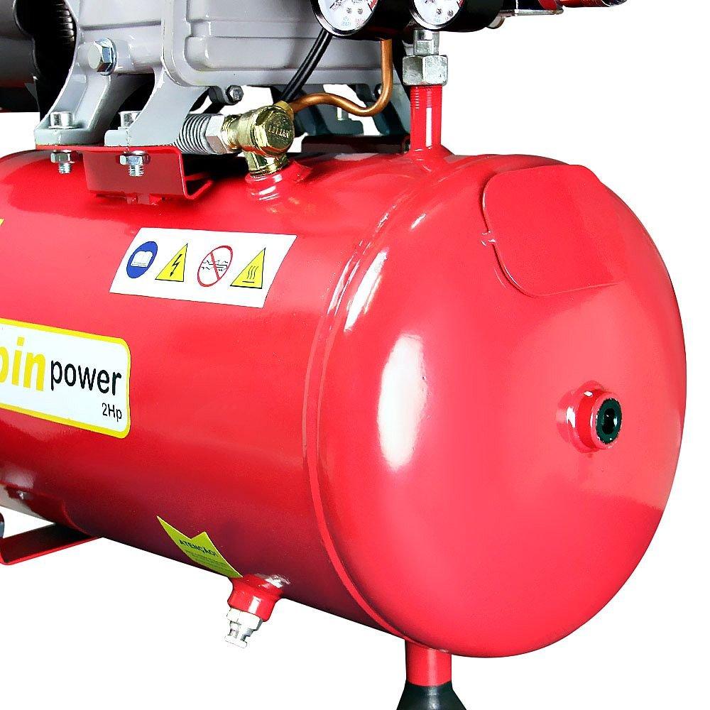 Motocompressor de Ar 2HP 7,4 Pés 24 Litros  Spin Power - Imagem zoom