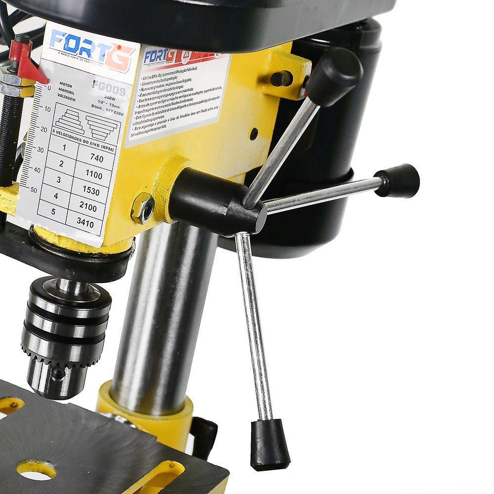 Kit Furadeira de Bancada 13mm 1/2 Pol. 1/2HP Bivolt FG009 + Jg de Brocas 25 Peças FG8760 - Imagem zoom