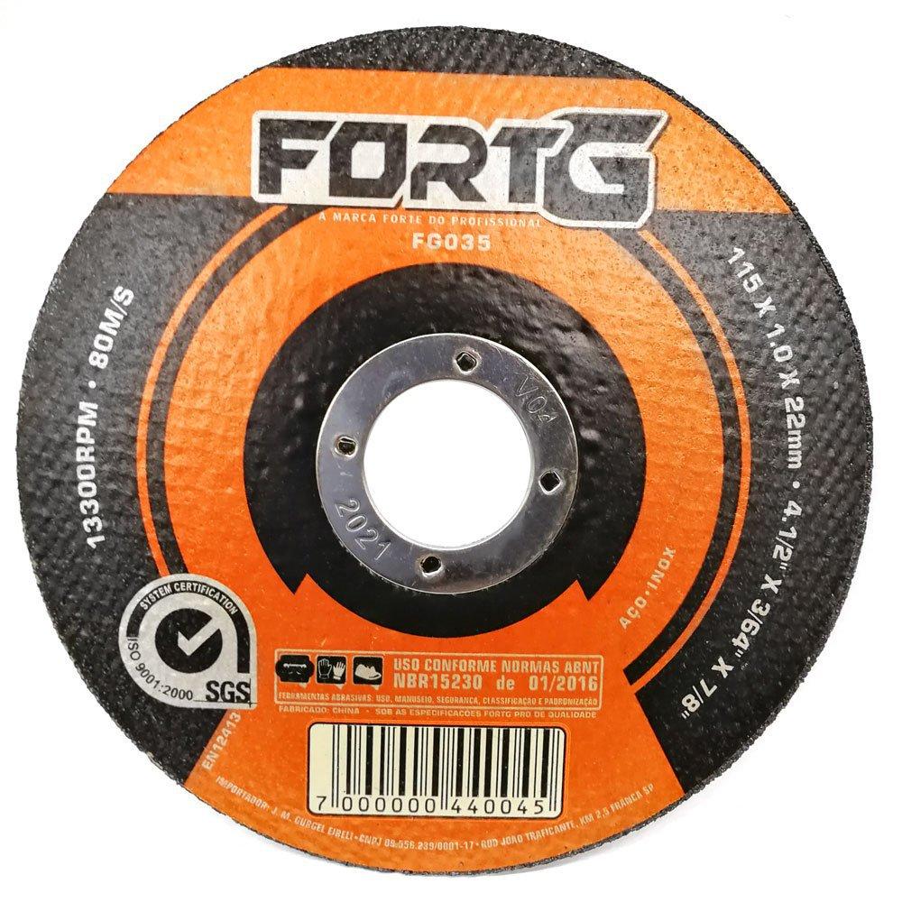 Kit Esmerilhadeira Angular 4.1/2 Pol. 820W  Black+Decker G720 + 20 x Disco de Corte Fino de Aço Inox 4.1/2 Pol. FG035 - Imagem zoom
