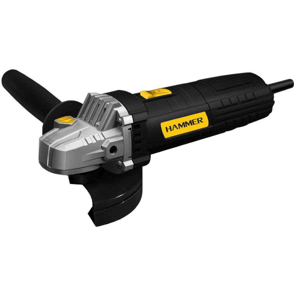 Kit Esmerilhadeira Angular de 4.1/2 Pol. 710W  Hammer EM-710 + 20 x Disco de Corte Fino de Aço Inox 4.1/2 Pol. FG035 - Imagem zoom