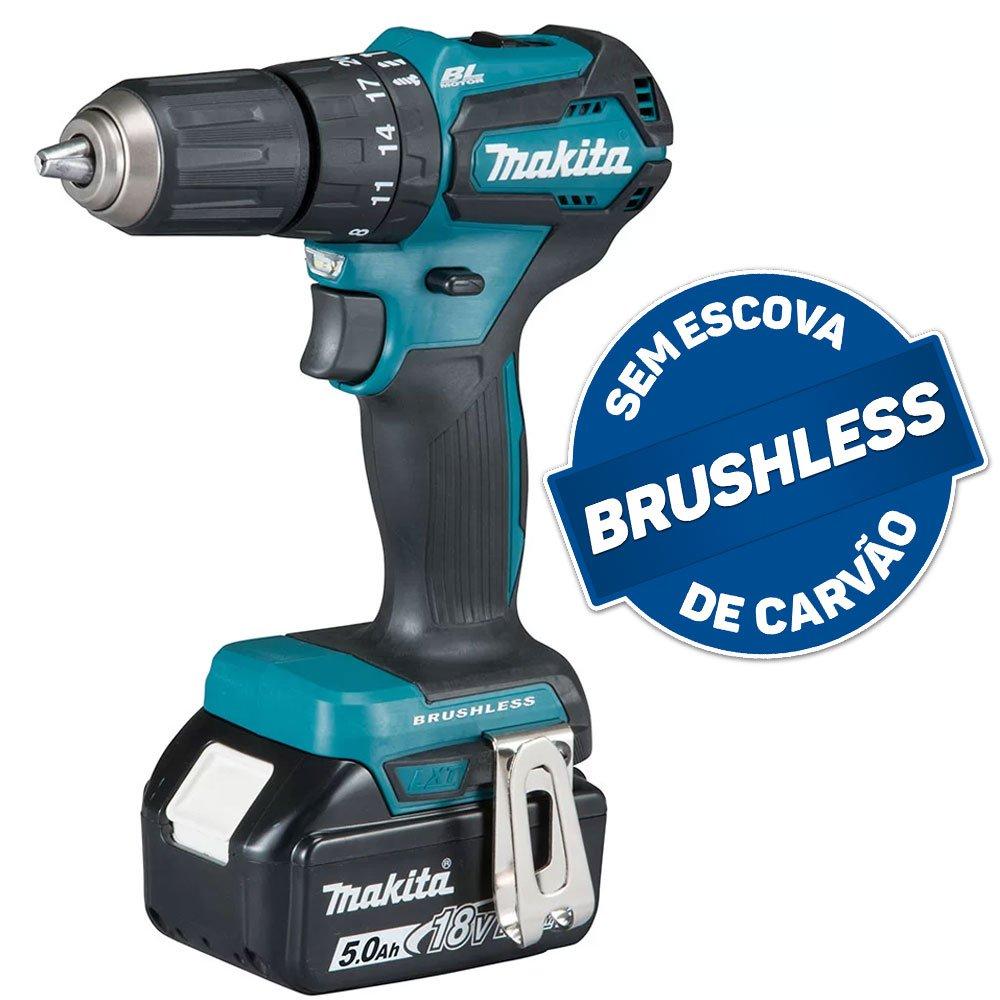 Parafusadeira/Furadeira de Impacto Brushless 1/2 Pol. 2 Baterias 18V Lition 5.0, Maleta Mak-Pac e Carregador Bivolt - Imagem zoom