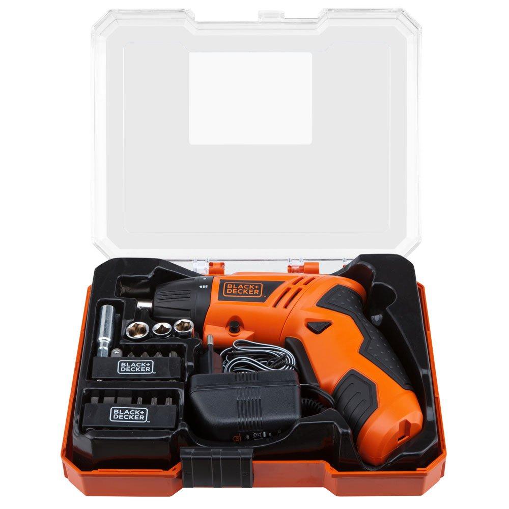 Parafusadeira a Bateria 4,8V NI-CD com Carregador Bivolt Caixa e Acessórios - Imagem zoom