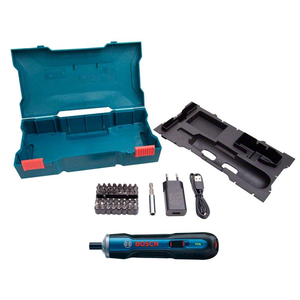 Parafusadeira a Bateria de Lítio 3,6V com Carregador USB + Jogo de 33 Bits - Imagem zoom