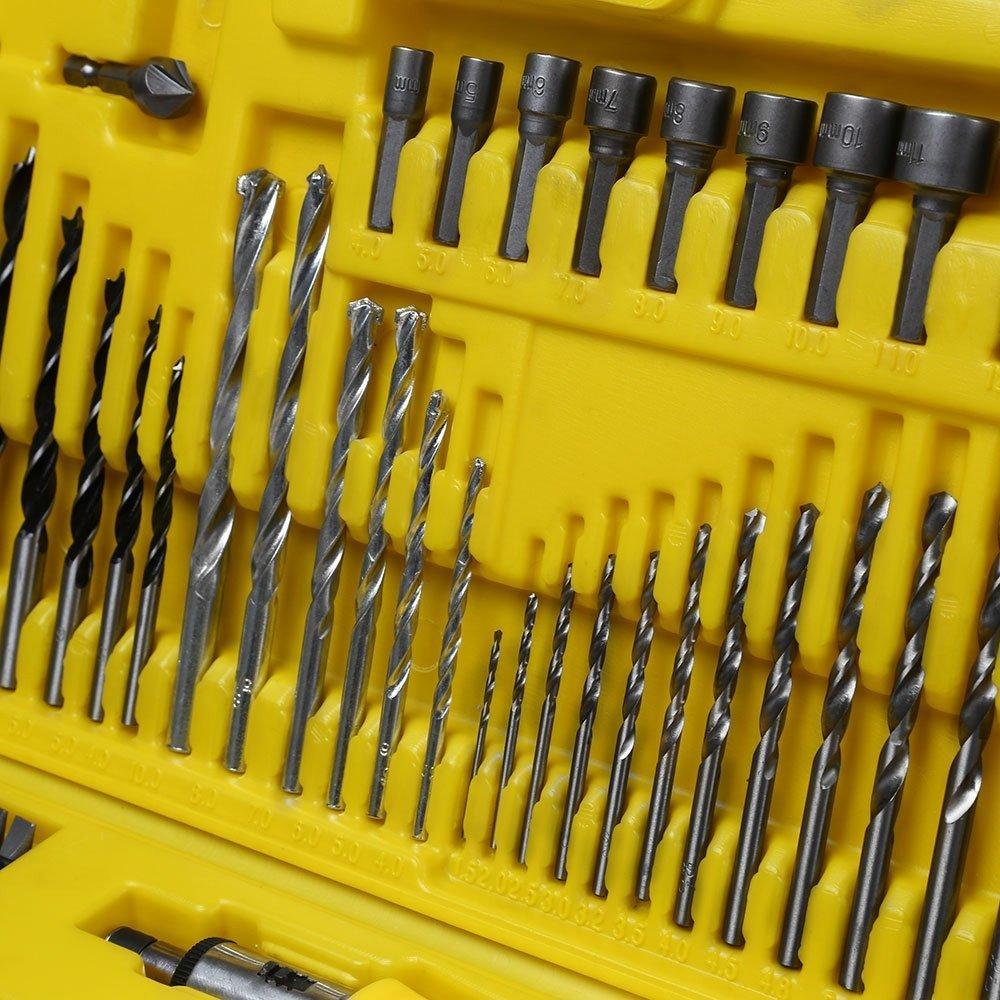 Kit Parafusadeira/Furadeira de Imp. 1/2 Pol. com 2 Baterias + Carregador Bivolt Stanley SCH20C2K + Jogo de Brocas e Bits 110 Peças FG8908 - Imagem zoom