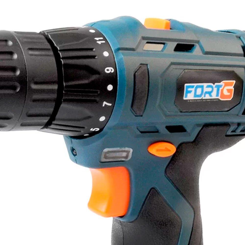 Kit Parafusadeira/Furadeira FORTG-FG3002 12V Bivolt + Chave de Impacto 1/4 Pol. 280W  - Imagem zoom