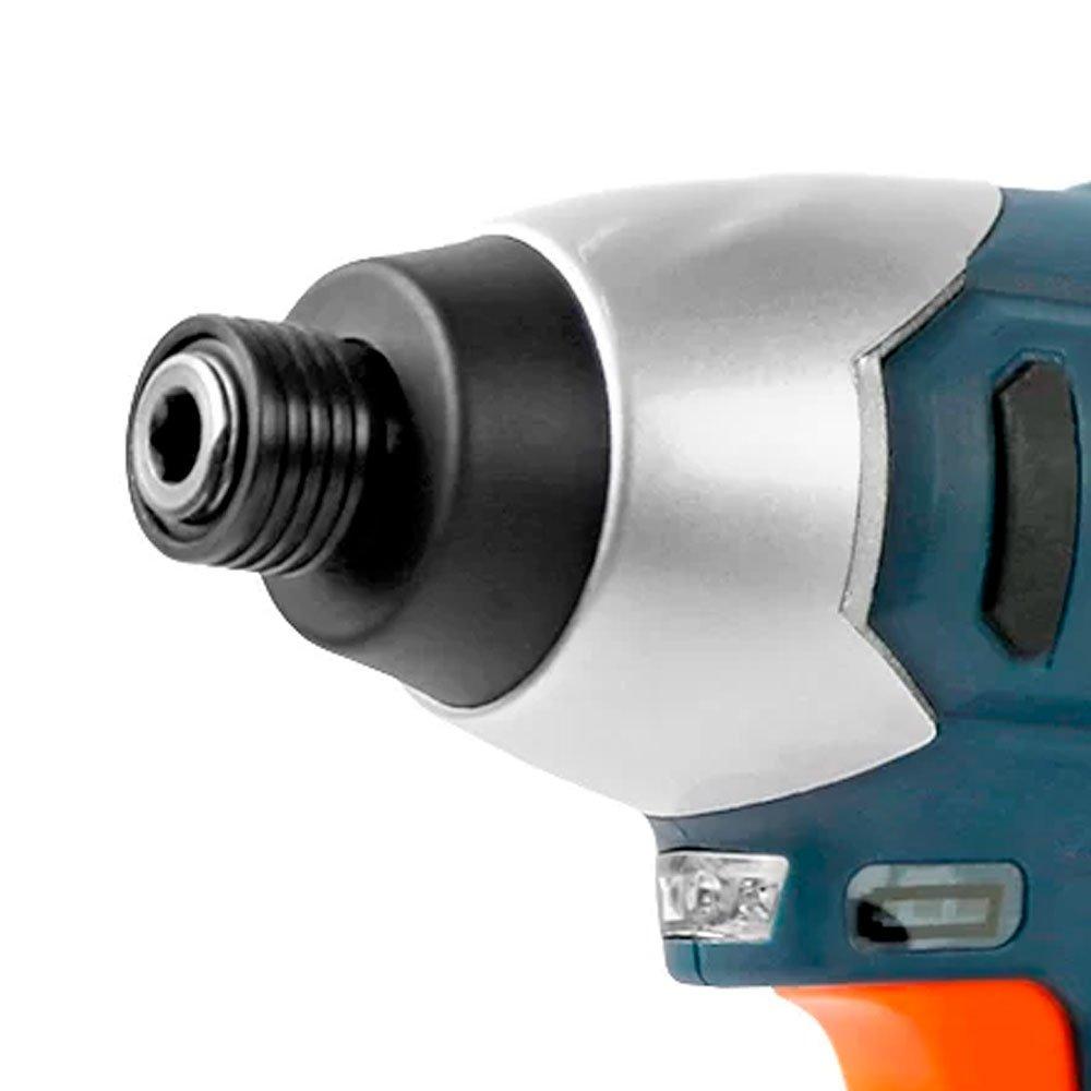 Kit Parafusadeira/Chave Impacto FORTG-FG3025 1/4 Pol. 12V + Bateria de Lítio 12V 1,3Ah - Imagem zoom