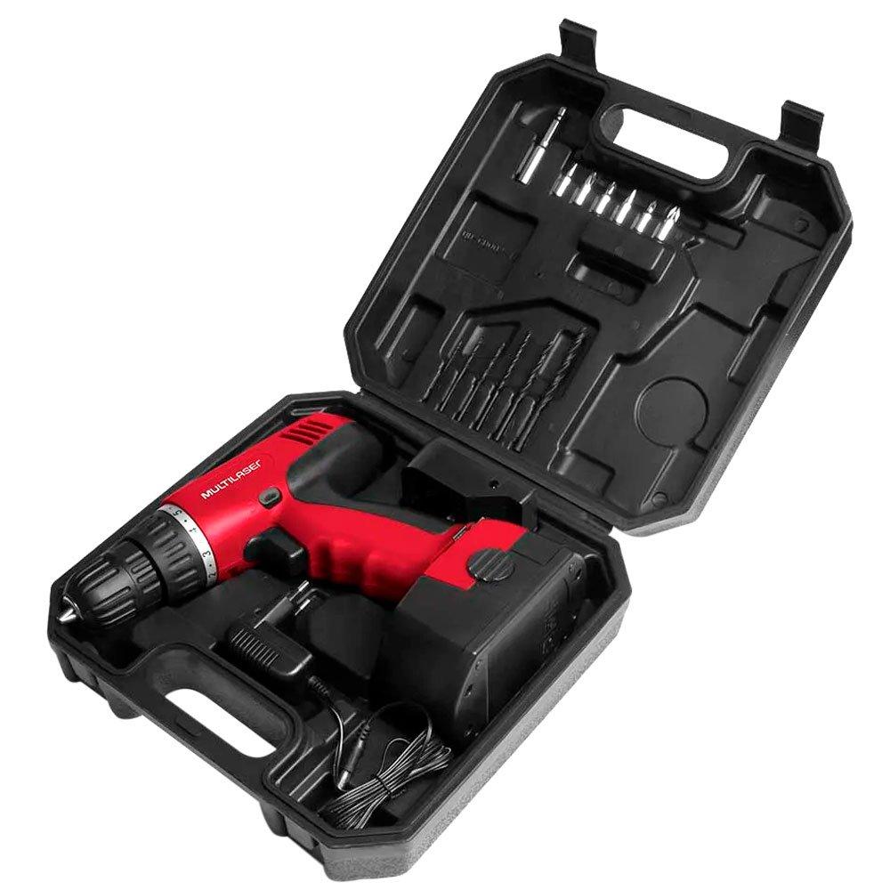 Parafusadeira/Furadeira a Bateria 12V Lítio 3/8 Pol. com Carregador Bivolt Maleta e Acessórios - Imagem zoom