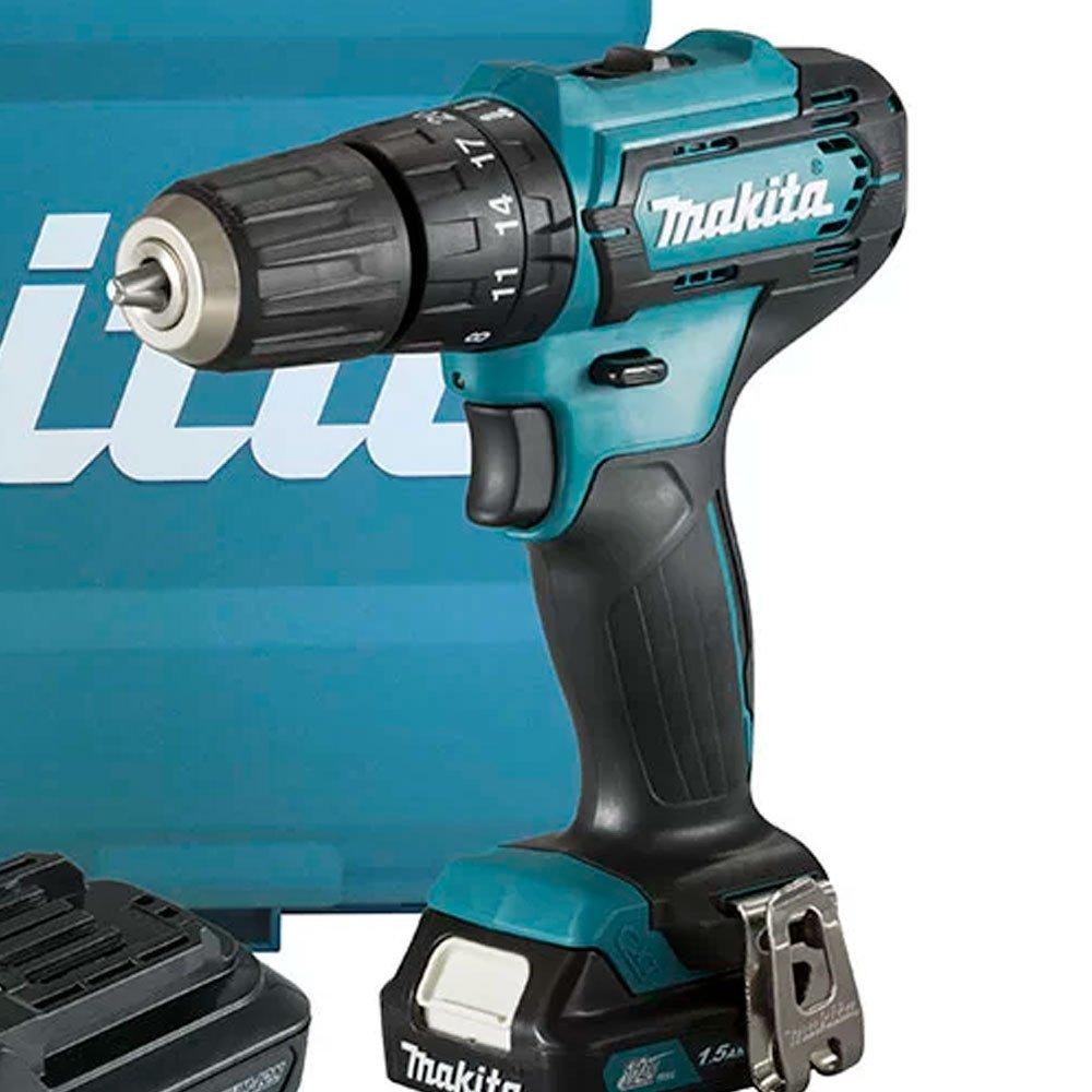 Kit Furadeira/ Parafusadeira de Impacto 12V MAKITA-HP333DWYE + Bateria Max 2.0 Ah BL1021B - Imagem zoom