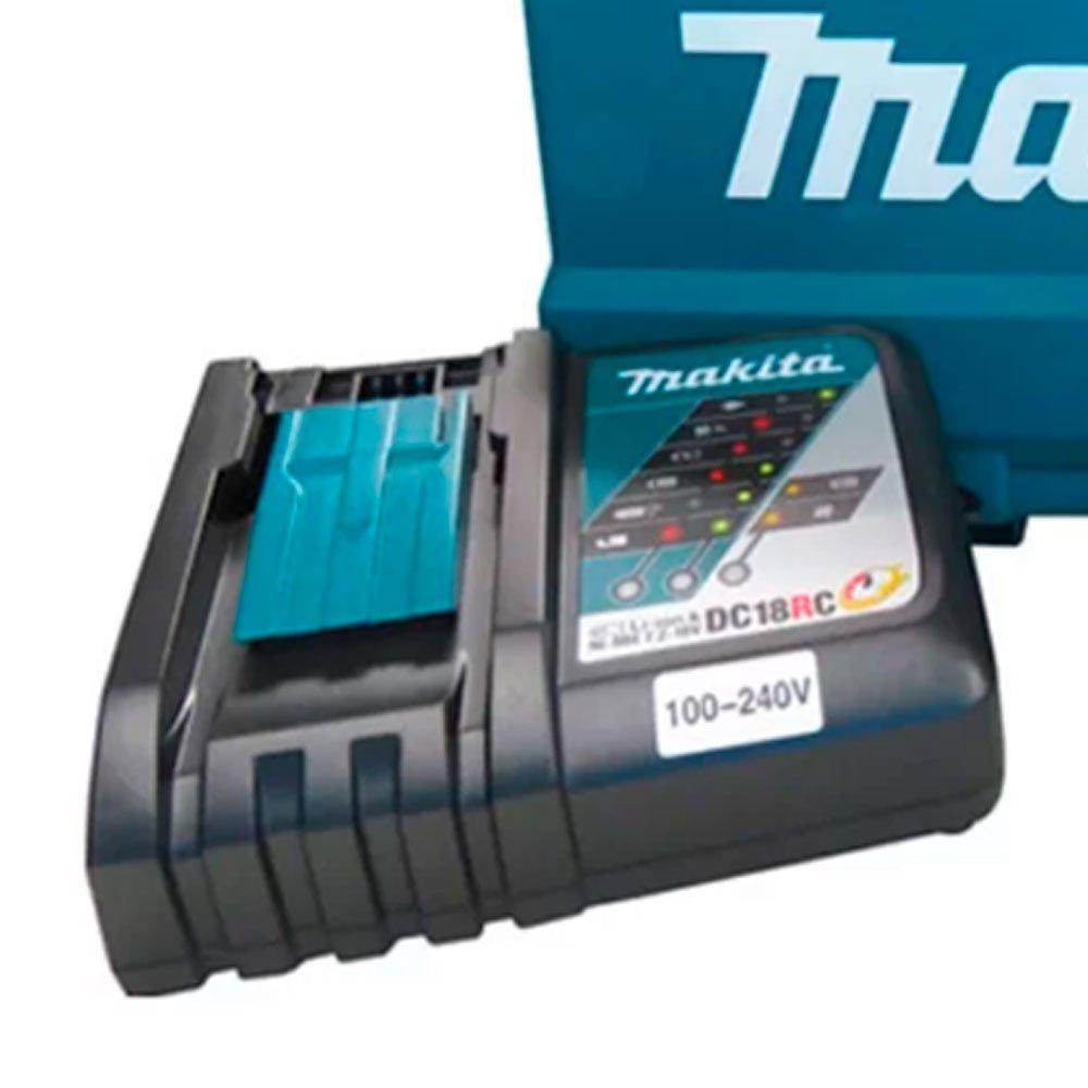 Kit Parafusadeira Makita DHP482RAE-BIVOLT 18V com 2 Baterias e Carregador Rápido  + Jogo de Acessórios Makita B-54879 100 Peças - Imagem zoom
