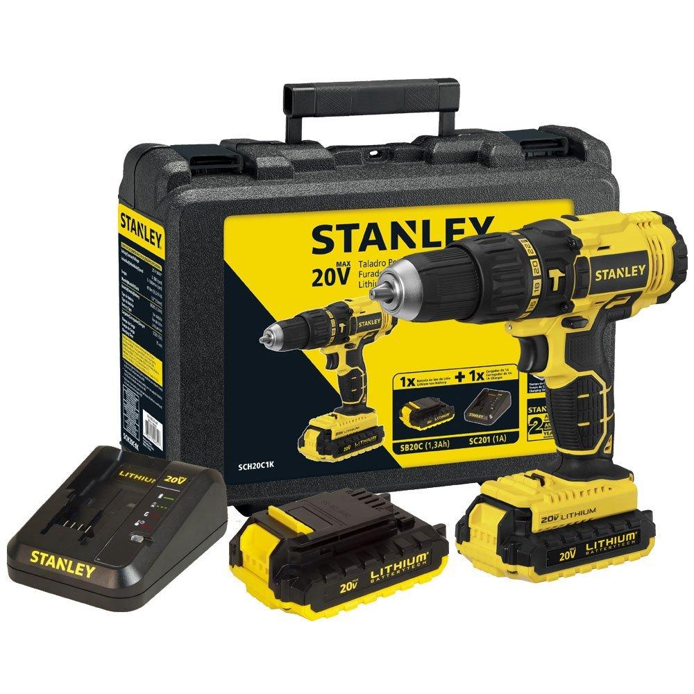 Kit Parafusadeira/Furadeira STANLEY-SCH20C2K de Impacto 1/2 Pol. 2 Baterias e Carregador Bivolt + Jogo de Ferramentas Profissionais LITH-LT2050 110 Peças  - Imagem zoom