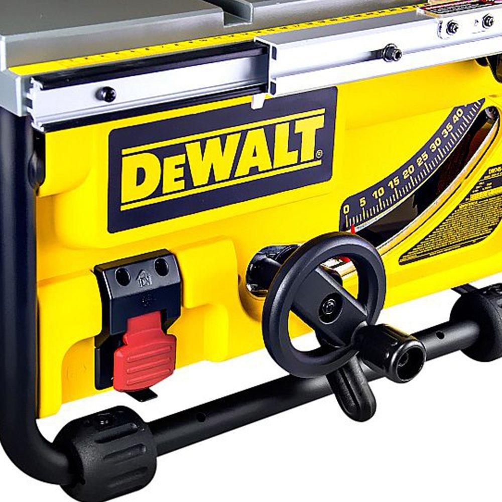 Kit Serra de Mesa 10 Pol. 254mm 2000W  Dewalt DW745-B2 + Lixadeira de Cinta Velocidade Variável 850W Coletor de Pó - Imagem zoom