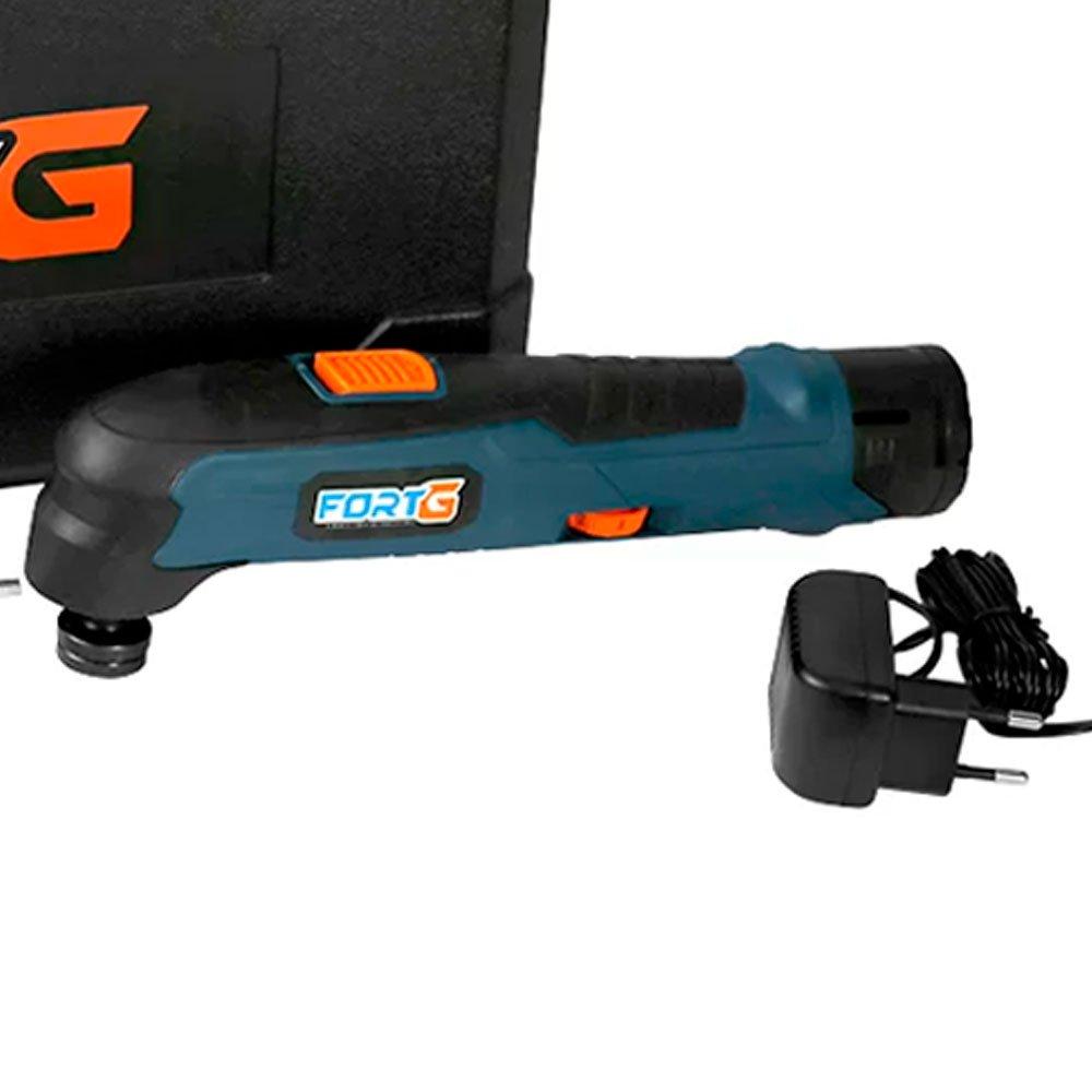 Kit Multicortadora Oscilante FORTG-FG6600 12V e Maleta + Bateria de Lítio 12V 1,3Ah  - Imagem zoom