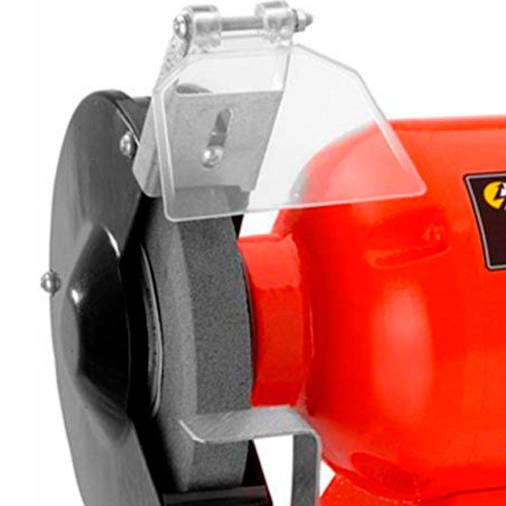 Kit Moto Esmeril de Bancada 6 Pol 300W  Schulz-911025 + Rebolo Reto 6 x 3/4 Pol. Grão 60 FG051 - Imagem zoom