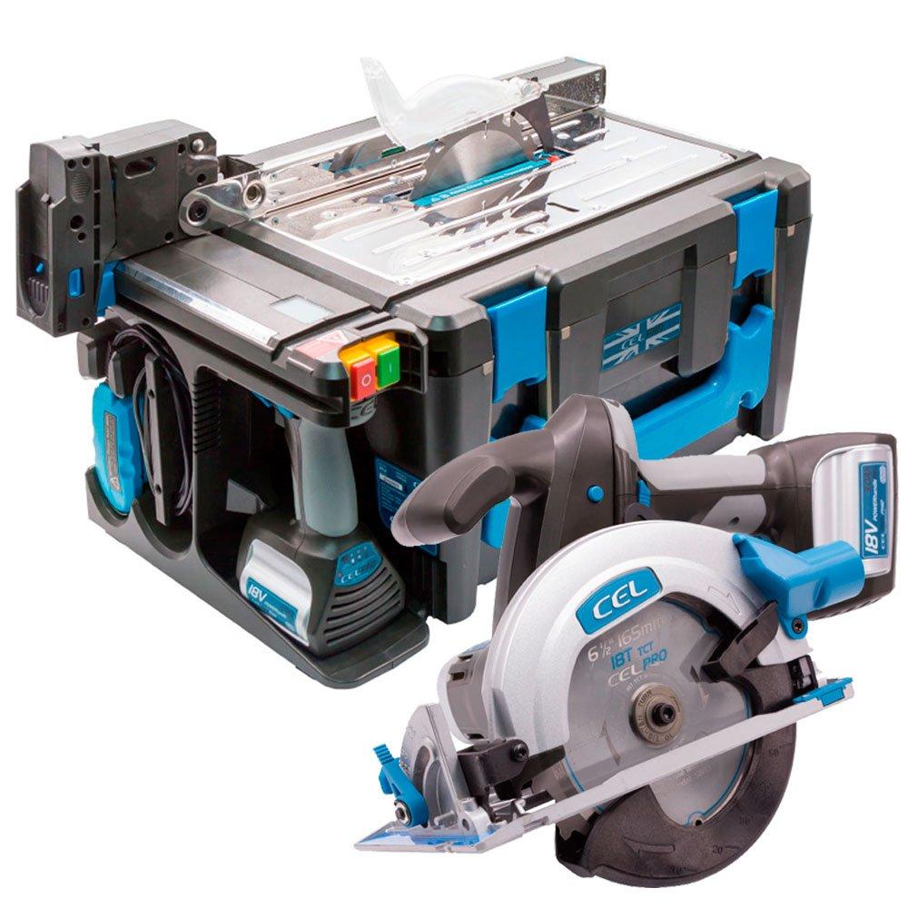 Kit Multi Função Maksipower 8  à Bateria 18V Bivolt com Furadeira/Parafusadeira, Serra Circular, Serra Tico-Tico, Lanterna e Bancada - Imagem zoom
