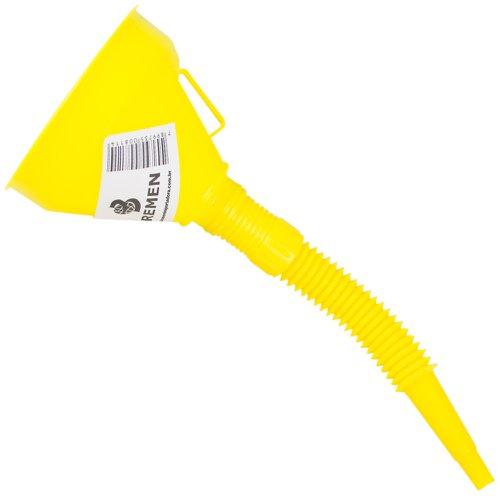 funil de polietileno amarelo com extensão flexível 135mm