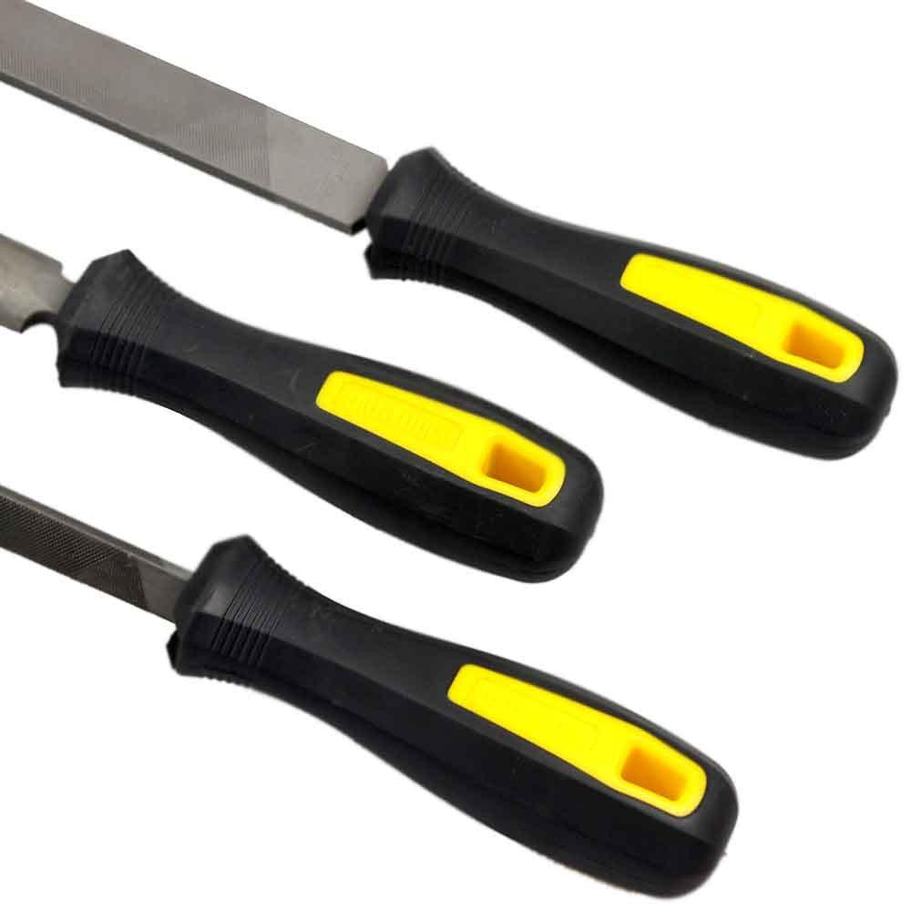 Jogo de Limas com Escova de Aço - 4 Peças - Imagem zoom