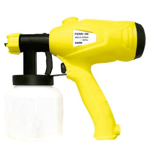 pistola pulverizadora elétrica mega spray 800ml 2,5mm 350w 220v
