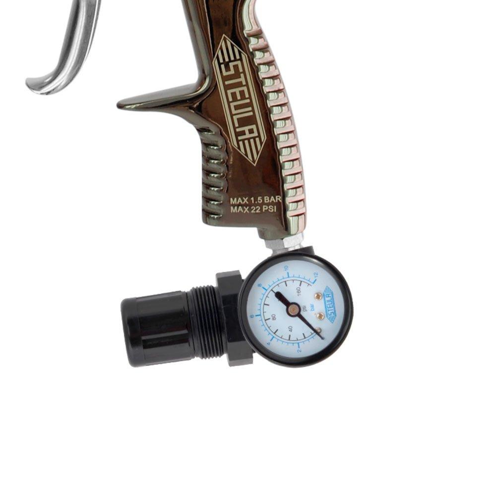 Pistola para Pintura LVLP 1,3mm 600ml com Válvula de Controle de Pressão - Imagem zoom
