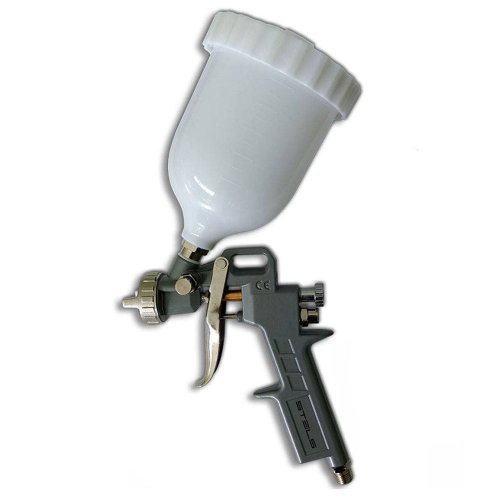 pistola para pintura pneumática com tanque alto 600ml