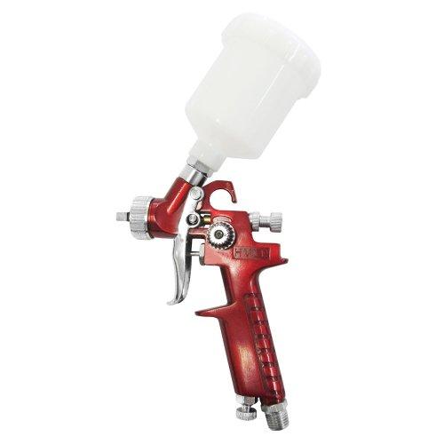 pistola de pintura hvlp vermelha 100ml com bico de 0,8mm
