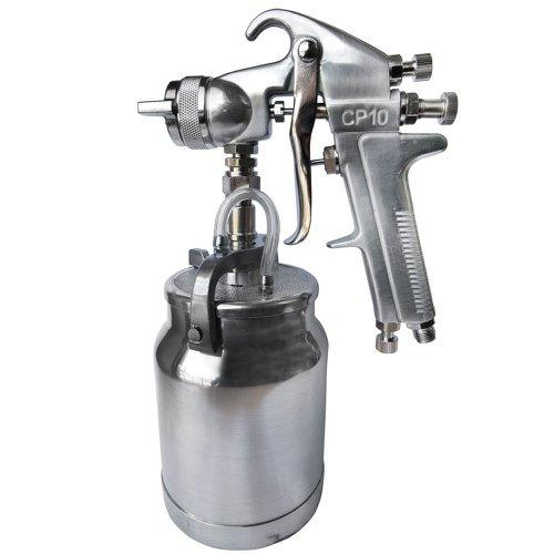 pistola de pintura alta pressão cp10 com caneca em alumínio 1000ml e bico 1,8mm