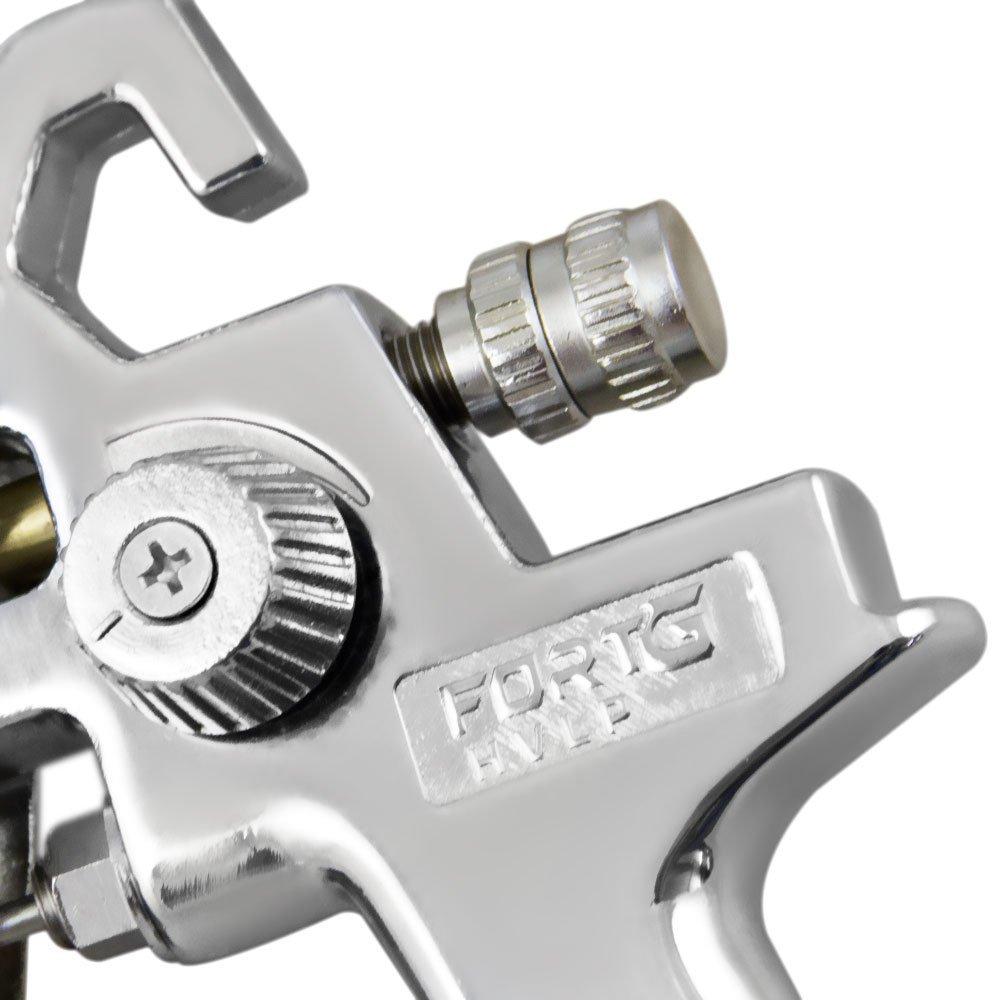 Kit Pistola de Pintura HVLP e 2 Jogos de Reparo e Bico FORTGPRO-FG8650 + Engate Rápido Fêmea + Adaptador Rosca Macho - Imagem zoom