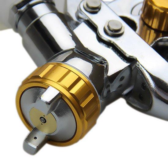 Pistola de Pintura Gravitacional HVLP Bico de 0,8 mm em Caneca Plástica 100 ML - Imagem zoom
