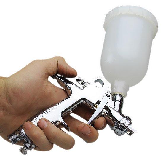 Pistola de Alumínio para Pintura com Caneca Plástica e Bico 1.2 mm - Imagem zoom