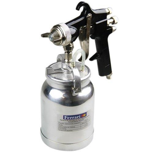 pistola de pintura de alta pressão com bico de 1,8 mm e caneca de 1,0 litro