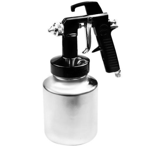 pistola de ar direto caneca de alumínio 1 litro e bico de 1.3mm