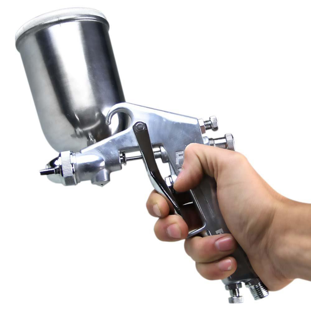 Pistola para Pintura por Gravidade com Caneca em Alumínio 350 ml e Bico 1,5 mm - Imagem zoom