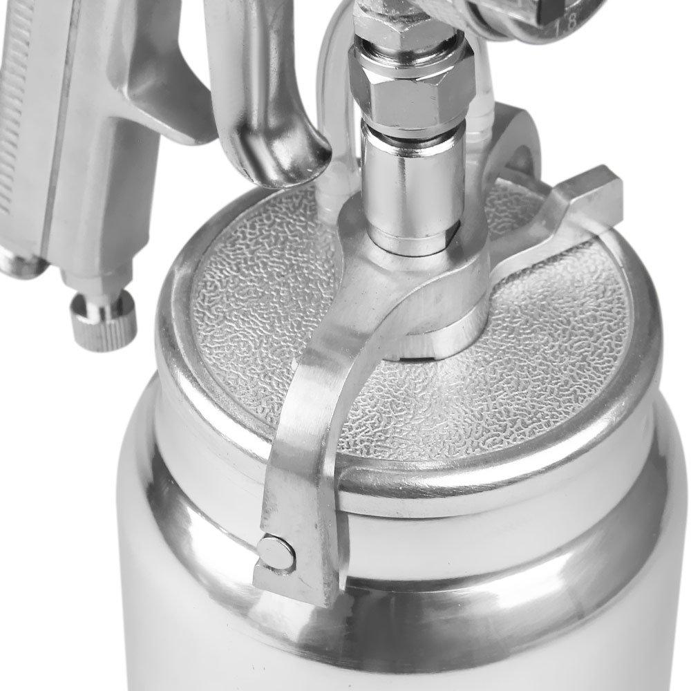 Pistola de Pintura de Alta Produção tipo Sucção com Bico 1.8mm e Caneca 1000ml - Imagem zoom