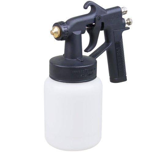 pistola de pintura com caneca de nylon ar direto 500ml bico 1,2mm