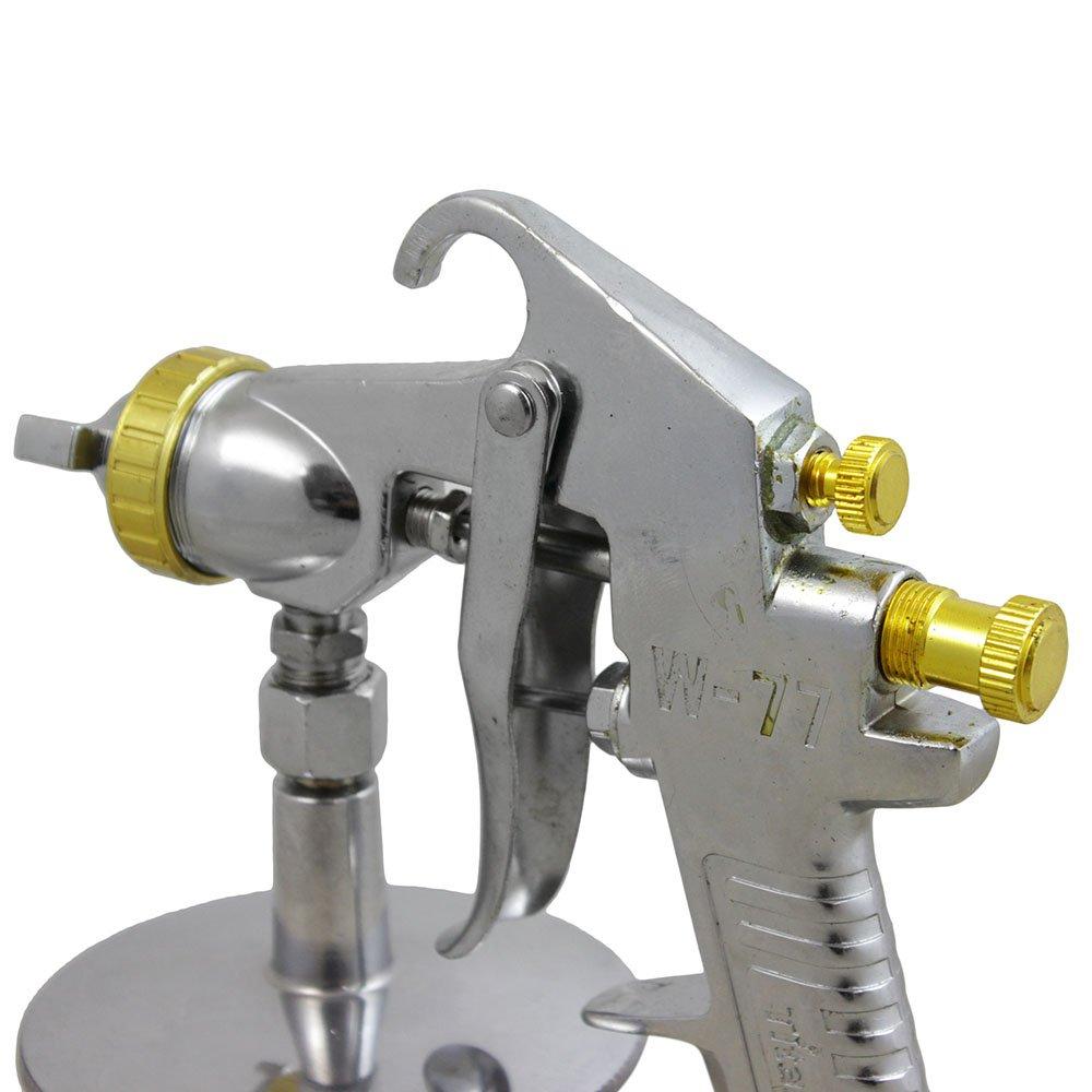 Pistola Pintura Alta Produção de Bico 2,0 mm Caneca em Alumínio 1 Litro W77S  - Imagem zoom