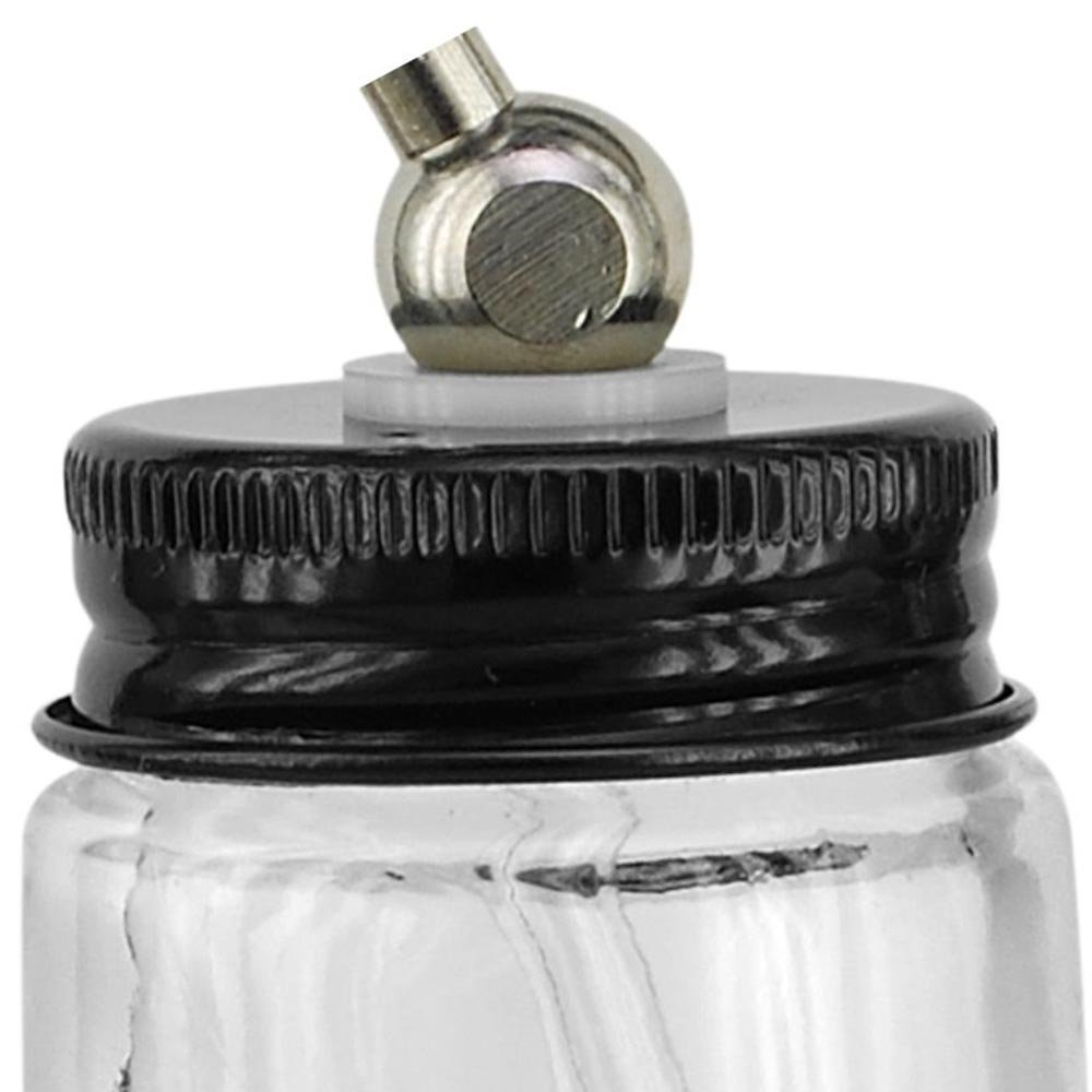 Conjunto Caneca de Vidro 20ml para Aerógrafo - Imagem zoom