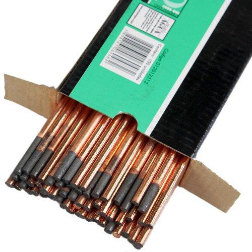 eletrodos de carvão de 3/16 x 12 pol.