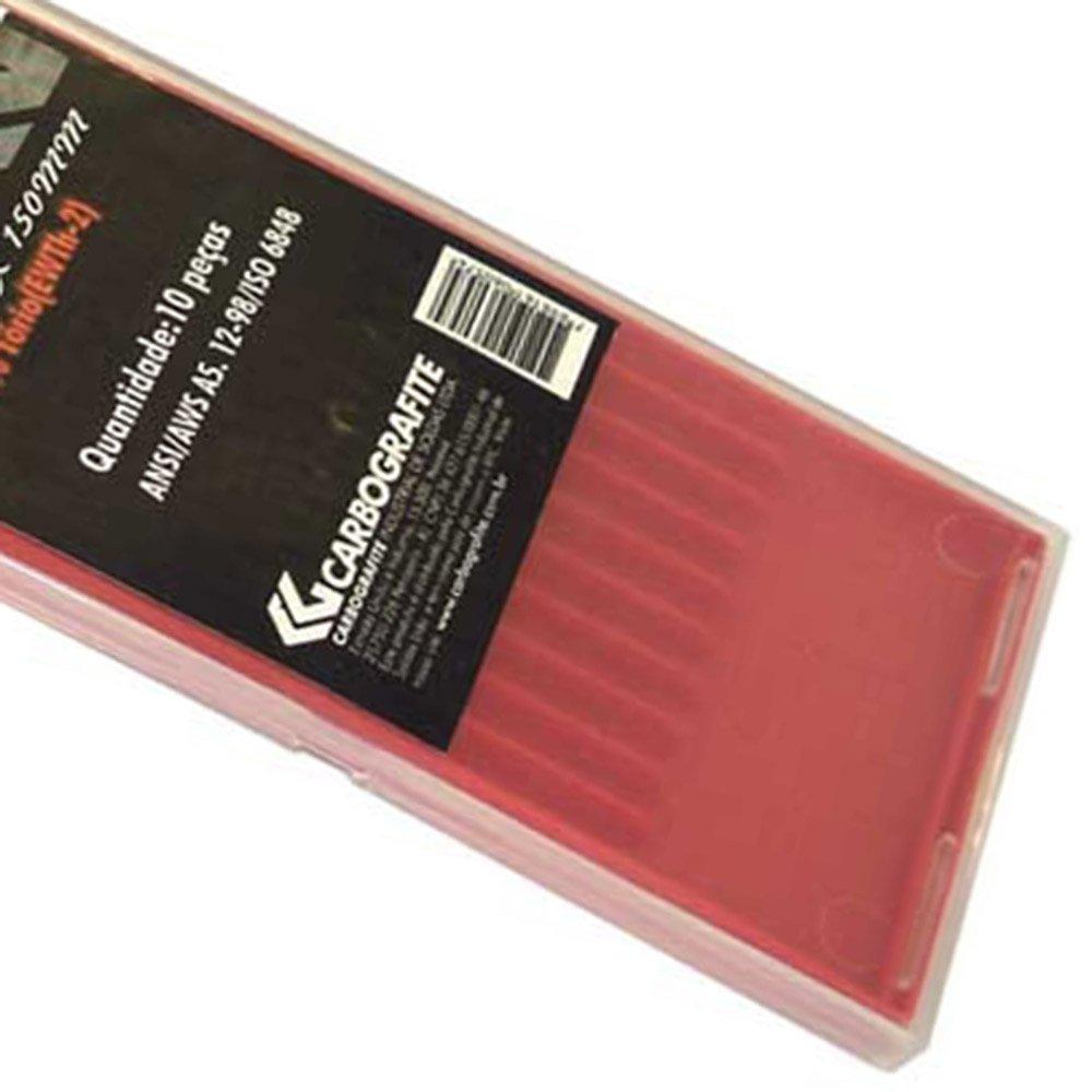 Eletrodo Tungstenio 2 Por Cento Tório 1,6mm x 150mm - Imagem zoom