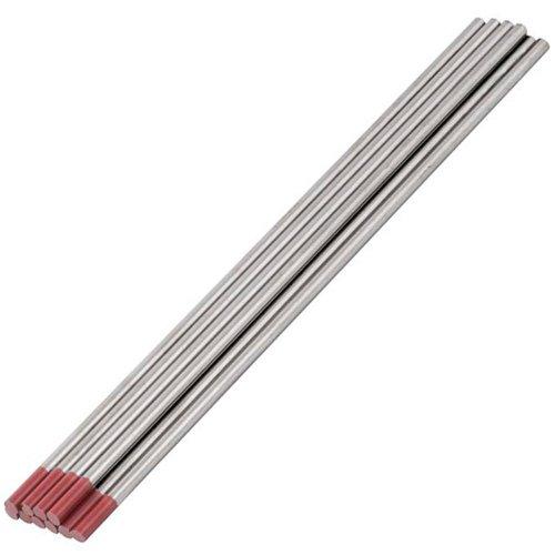 eletrodo de tungstênio com 2 por cento de tório 1/8x6 pol. com 10 unidades