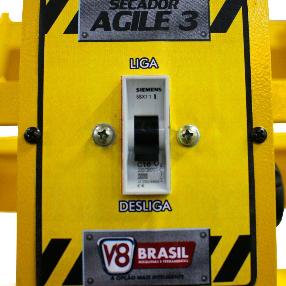 Painel de Secagem Rápida com 3 Lâmpadas 3000W  - Agile 3 - Imagem zoom