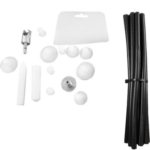 kit de acessórios para rebatedora com cola quente