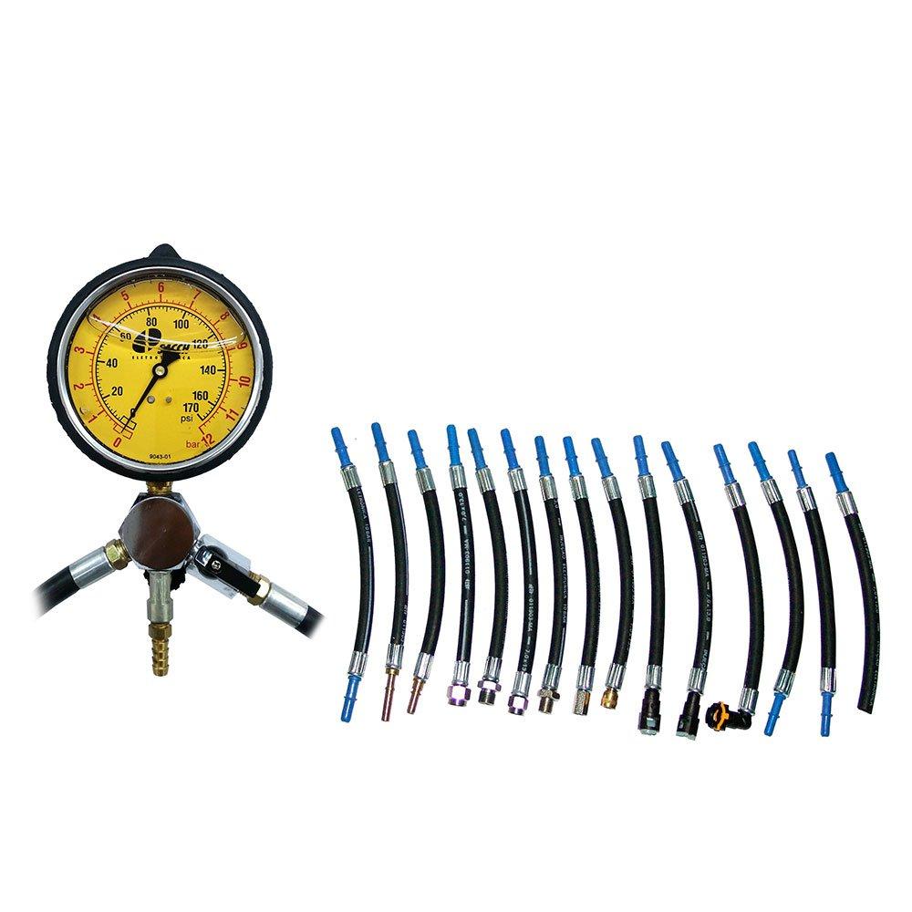 Manômetro para Teste de Pressão e Vazão da Bomba de Combustível com 17 Mangueiras - Imagem zoom
